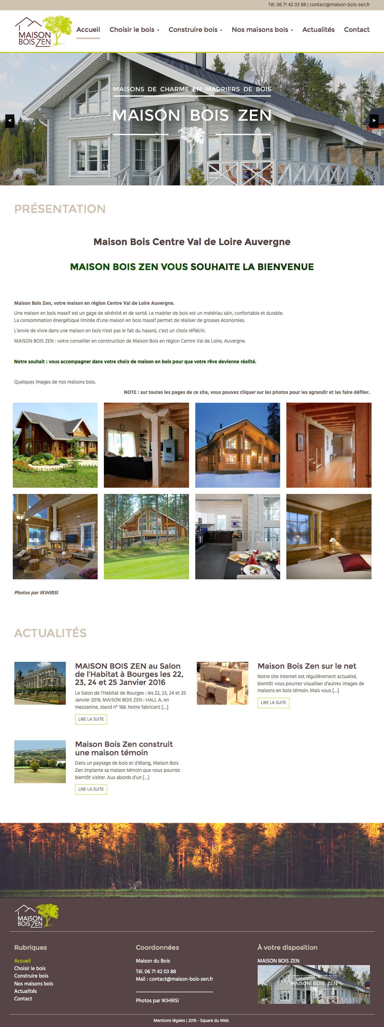 Maison Bois Zen