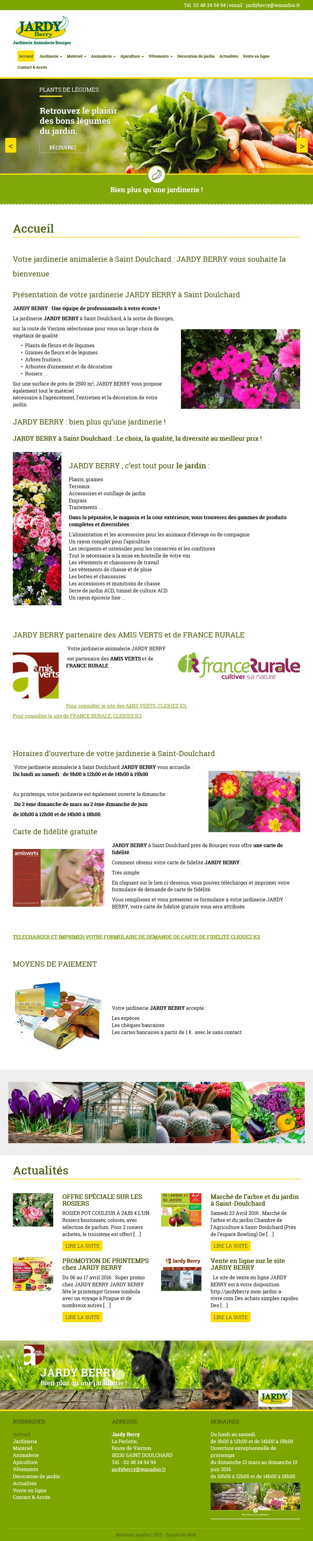 JARDY BERRY, Jardinerie Animalerie Bourges