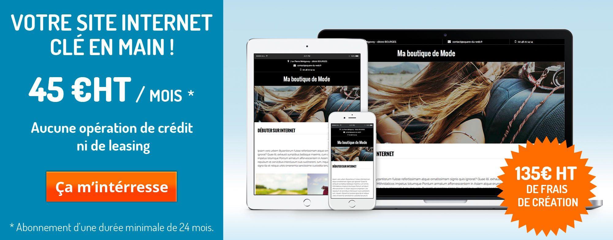 Site internet mensualisé à bourges