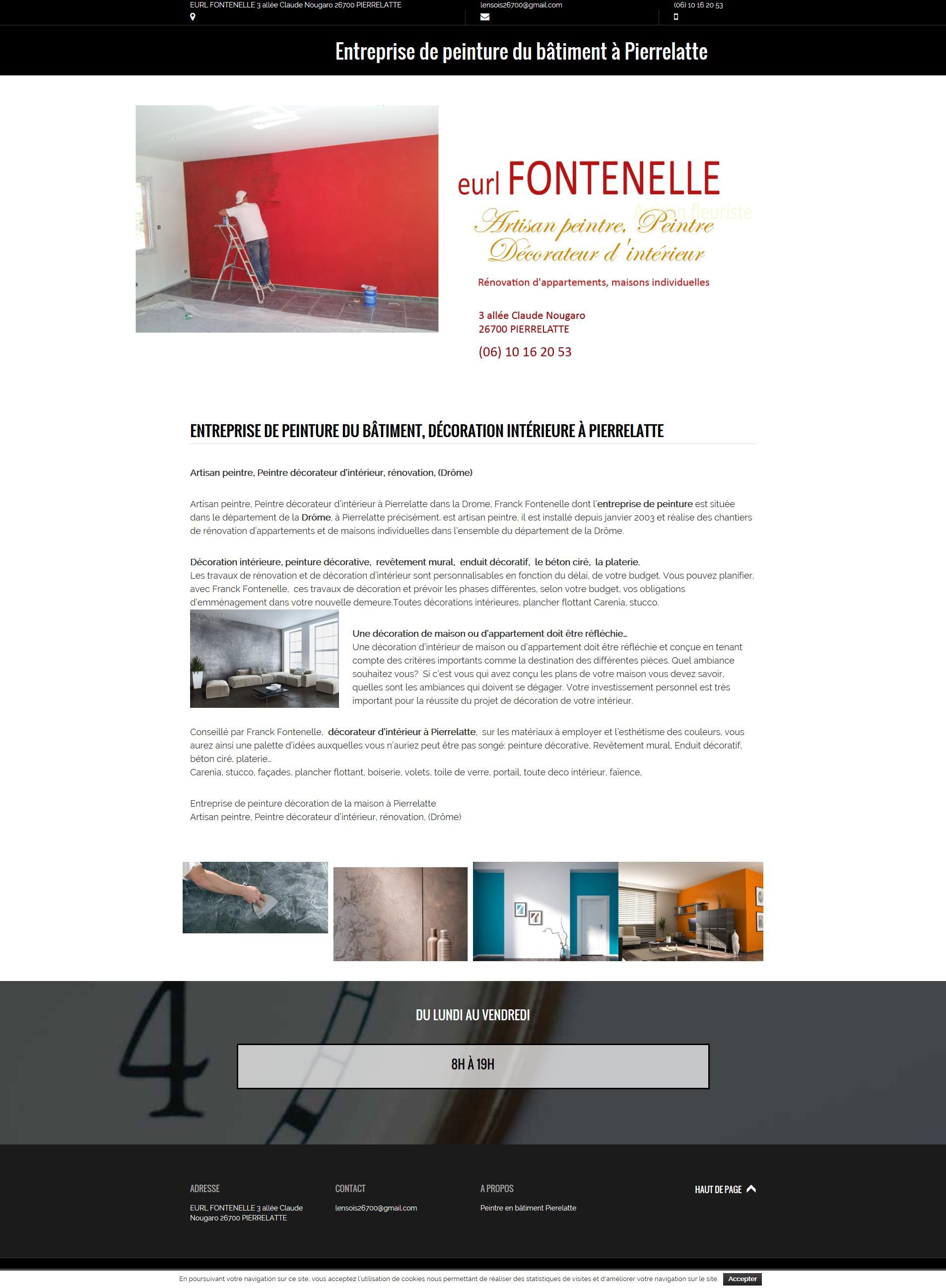 Eurl Fontenelle, peintre en bâtiment à Pierrelatte.