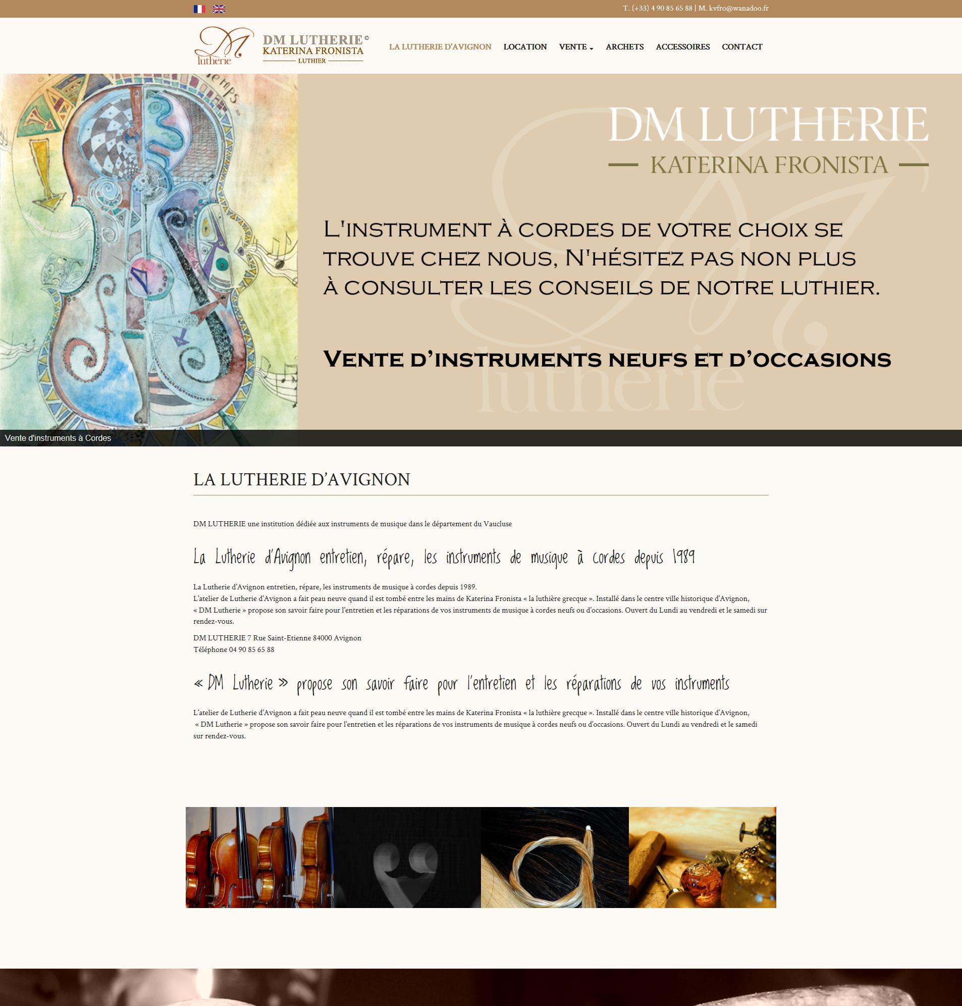 DM Lutherie, Lutherie à Avignon